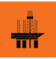 Oil sea platform icon vector image