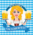 oktoberfest beer festival sexy redhead girl vector image vector image