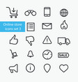 online store icons set vector image vector image
