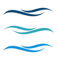 ornamental wave line logo template design vector image vector image