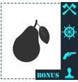 pear icon flat vector image vector image