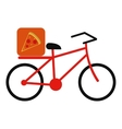 pizza food delivery bicycle vector image vector image