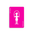 playing card with joker in pink design vector image vector image