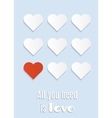 postcard all you need is love vector image vector image