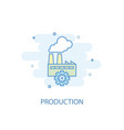 production line concept simple line icon colored vector image
