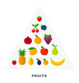 pyramid fruit flat isolated vector image