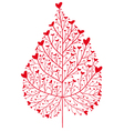 red heart tree vector image