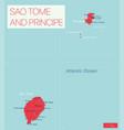 sao tome and principe detailed editable map vector image vector image