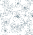 Seamless apple flowers pattern backgrounds vector image vector image