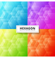 set abstract blue purple green red color vector image vector image