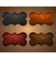 Set leather labels