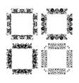 Set of frames for design vector image vector image