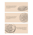 set of horizontal banners with contour black and vector image