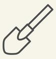 shovel line icon tool vector image