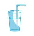 silhouette refreshment in bottle glass to vector image vector image