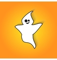 Smiling ghost scares in for Halloween vector image