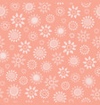 soft coral floral seamless repeat pattern vector image