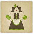 St Patricks Day girl vector image vector image