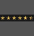 star symbol icons vector image