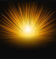 sun shine glow light vector image