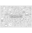 Technology background with media icons vector image vector image