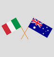 the australian and italian flags vector image vector image