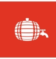 The Barrel icon Cask and keg beer Barrel symbol vector image vector image