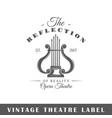 theatre label vector image vector image