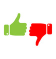 vote thumbs up icon in red and green make a vector image