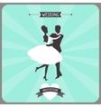 Wedding invitation retro card vector image
