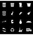 white garbage icon set vector image vector image