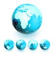 set of earth globe vector image