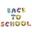 english word back to school vector image