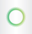 green abstract circle background vector image