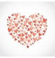 set Red glossy shiny heart on white background vector image