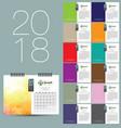 2018 calendar design vector image