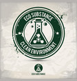 alternative eco substance stamp vector image vector image