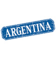 Argentina blue square grunge retro style sign vector image vector image