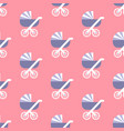 baby carriage pattern vector image vector image