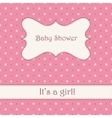 Background with stars baby shower vector image vector image