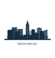 baton rouge skyline monochrome silhouette vector image vector image
