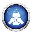 Boxing pear and gloves icon vector image