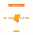 Business logos flat chart stage growth vector image vector image