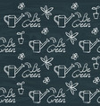 chalkboard seamless pattern with be green text vector image