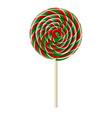 christmas lollipop vector image vector image