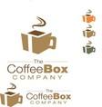 coffee box logo vector image