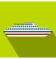 Cruise ship icon flat style vector image vector image