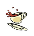 cup of coffee or cocoa vector image