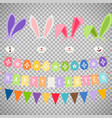 easter party decoration elements vector image