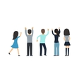 Fans people on white background vector image vector image